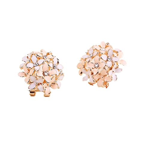 Chinget 1 Paar Süß Damen Rosen Ohrstecker Ohrring-schöne Blumen-Ohrringe (Rosa)