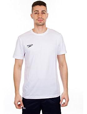 Speedo Small Logo Camiseta de Manga Corta, Hombre, Blanco, XXL