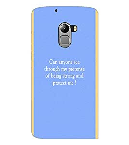 PrintDhaba Quote D-4444 Back Case Cover for LENOVO VIBE K4 NOTE (Multi-Coloured)