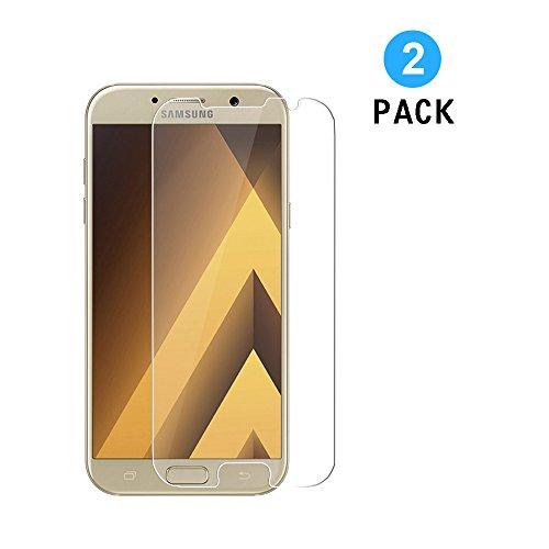WEOFUN Samsung Galaxy A3 2017 Panzerglas Schutzfolie, [2 Stück] Bildschirmschutzfolie Panzerfolie für Samsung Galaxy A3 2017 Schutzglas Folie [0.33mm, 9H, Ultra-klar]