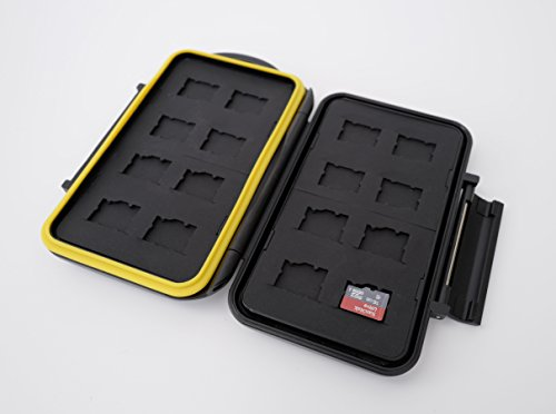 Ares Foto® MC-MSD16 Speicherkarten Schutzbox / Memory Card Case / Card Safe / für 16 Stück Micro SD Karten- New Edition 2017 for 16 Micro SD Cards