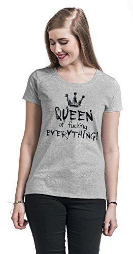 Queen of Fucking Everything Girl-Shirt Grau Meliert Grau Meliert