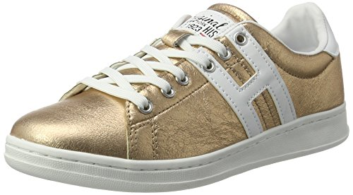 His 16mcb002, Sneaker Basse Donna Gold (bronce/white)
