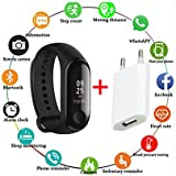 SBA999 Upgraded Waterproof Advanced m-3rd Generation Live Activity Fitness Blood Pressure Monitor Heart Rate Steps Calorie Counter Health Tracker Smart Watch with Touch Sensor OLED Screen and Charger