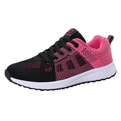 Modaworld Damen Sneaker Leichte Modische Turnschuhe Fliegendes Weben Socken Sport Schuhe Schüler Freizeit Laufschuhe