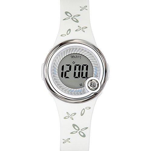 Tekday 653045 - Reloj digital de cuarzo infantil con correa de plástico, color blanco
