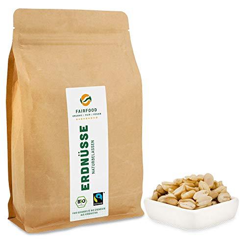 Bio Fairtrade Erdnüsse: Roh & Blanchiert (600g) | Natürliche Qualität aus fairer Kooperative |...