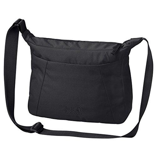 Jack Wolfskin Damen Valparaiso Bag Umhängetasche, Black, ONE SIZE (Messenger Kunststoff Bag Schwarz)