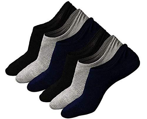 Calzini Fantasmini da Uomo, Calze Invisibili in Cotone Elasticizzato Uomo, Uomo Sport Performance Trainer Calze con taglio basso, EUR 38 - 44