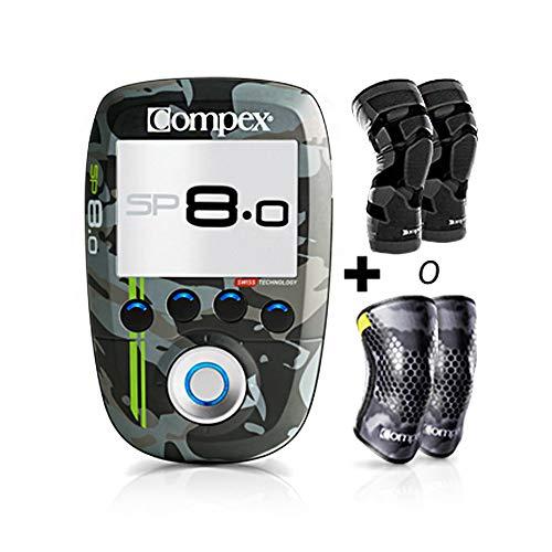 Compex Electroestimulador SP 8.0 WOD Edition + Rodilleras