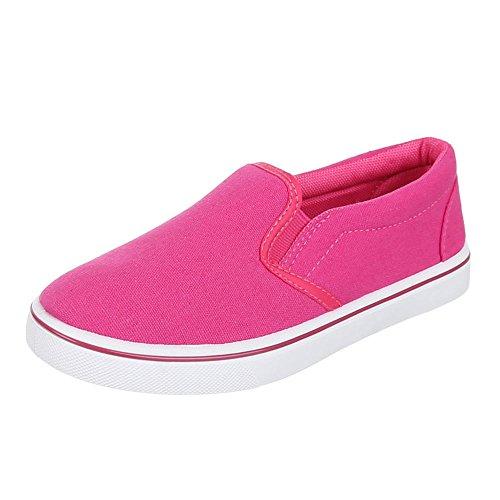 Kinder Schuhe, 943-1, BALLERINAS, LEICHTE SLIPPER, Textil , Pink, Gr 31