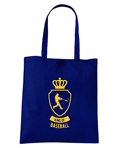 T-Shirtshock - Borsa Shopping SP0100 King of Baseball Maglietta Blu Navy