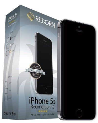 Reborn IPhone 5s Reconditionné Smartphone débloqué 4G (Ecran: 4 Pouces - 32 Go - Nano-SIM - iOS) Gris Sidéral