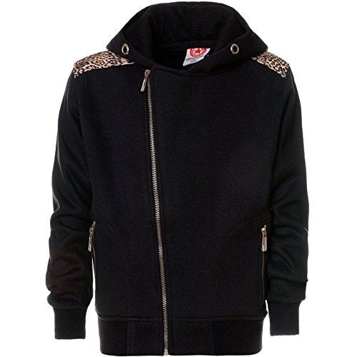 BEZLIT Stylischer Jungen Hoodie Kapuzen Pullover Sweatshirt Sweatjacke Pulli Pull 21657 Schwarz 152