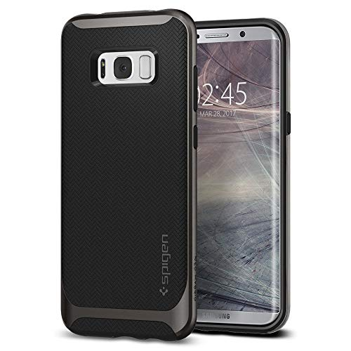 Spigen Coque Galaxy S8, [Neo Hybrid] Premium Bumper [Gunmetal] Bumper Style Premium Coque Slim Fit Dual Layer Protective Etui pour Samsung Galaxy S8 (2017) - (565CS21594)