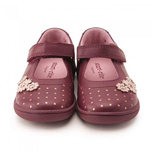 Start Rite Super Soft Daisy Large, Mary Jane Fille Bordeaux