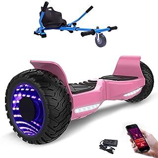 MARKBOARD 8,5zoll SUV Bluetooth Hoverboard HummerElektro Scooter mit Off Road Reifen mit Hoverkart, Gokart, Sitzscooter, APP, Musik Lautsprecher (8,5