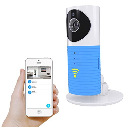 Plater® Smart Baby Monitor Wifi Video Baby Camera with P2P Night Vision Record Video Two-way Audio Motion Detected Support TF Card for Iphone Android Smartphones- Blue