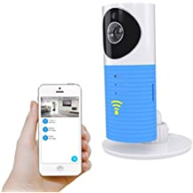 Plater Smart Baby Monitor Wi-Fi Video Home Security Camera with P2P Night Vision Record Video Two-Way Audio Motion Detected supporto TF card for iPhone iPad Android Smartphone – Blue