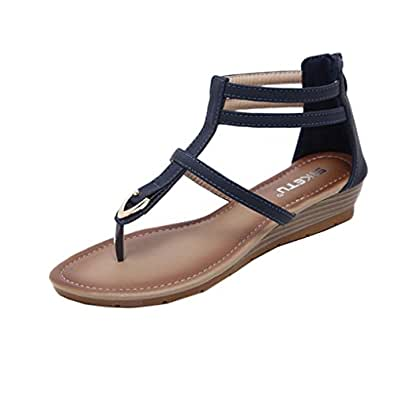 de LUCKYCAT Chaussures dété AmazonSandales Day Femme Été Prime jSLVqMGzUp