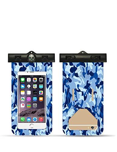 XZSRH Phone wasserdichte Tasche,Tarnung Serie,Schwimmen,Arm,mit intelligentem Touch-Screen,transparent,im Freien,geeignet für iphoneXS,8Plus,X,Huawei P20,Mate10,Samsung S10e,s9,Marine-Tarnung -