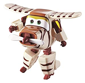 Alpha Animation & Toys- Super Wings YW710270 Transforming Bello Flugzeug, marrón, color blanco (
