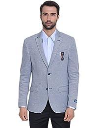 GIVO Men's Blue Knit Jacket