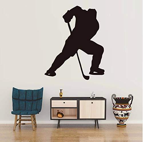 Lvabc Ein Mann Spielen Eishockey Sport Wandaufkleber Wohnzimmer Wände Decals Erwachsene Wandaufkleber Für Hauptdekoration 44X55 Cm