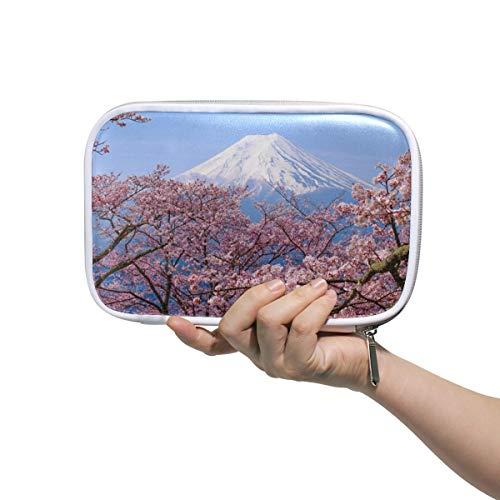 Funnyy Mount Fuji japanische Sakura Stifttasche Federmäppchen multifunktionaler Reißverschluss Reisetasche Make-up-Pinsel Kosmetiktasche für Kinder, Study Frau Mann Arbeit -