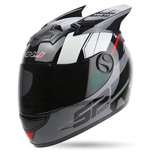 OLEEKA Casco moto mujer Hombre Casco moto Ear Moto
