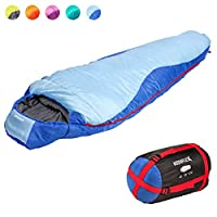 KeenFlex Mummy Sleeping Bag 3 Season Extra Warm & Lightweight Compact Waterproof Advanced Heat Control System – Ideal… 8