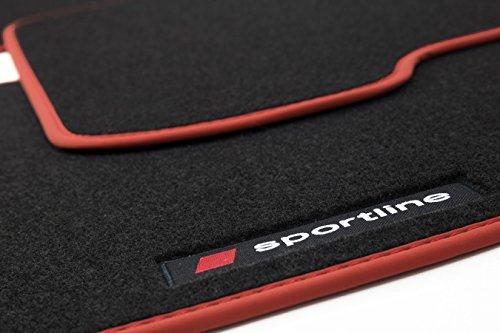 Preisvergleich Produktbild teileplus24 PV206 Fußmatten Gummimatten Sportline Design Bandeinfassung Ziernähte