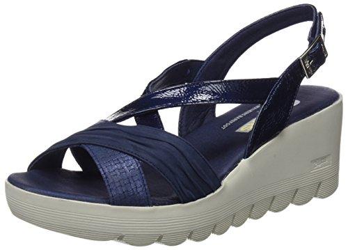 24 HORAS 23626, Sandalias Plataforma Mujer, Azul Marino