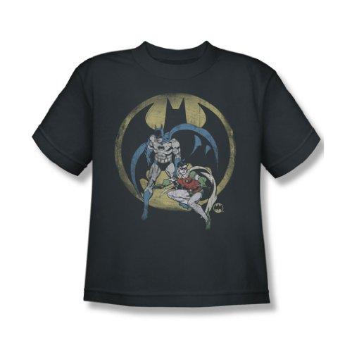 Dc Comics - Team Jugend T-Shirt in der Holzkohle Charcoal