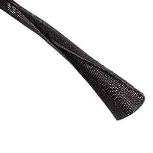 Hama - 020597 - Cache câble 1 piece. Bande de textile extensible de 2 à 4cm.1,80m. Noir