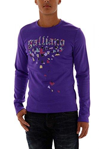 John galliano felpa uomo-shirt hell-violett xl