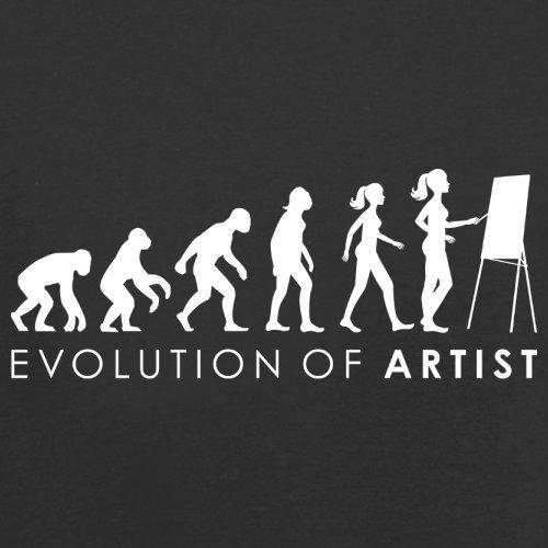 Evolution of Woman - Künstlerin - Herren T-Shirt - 13 Farben Schwarz