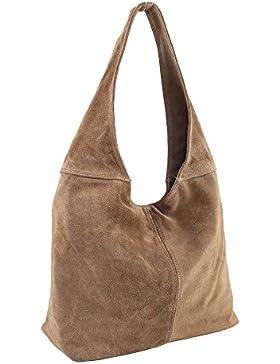 Ledertasche Beuteltasche Lederhandtasche Wildleder Handtaschen Leder Tasche Schultertasche Damenhandtasche Shopper...