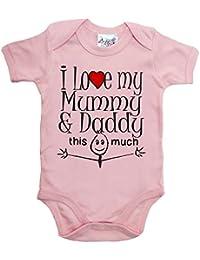 IiE, I love my Mummy & Daddy this much, Baby Unisex, Bodysuit