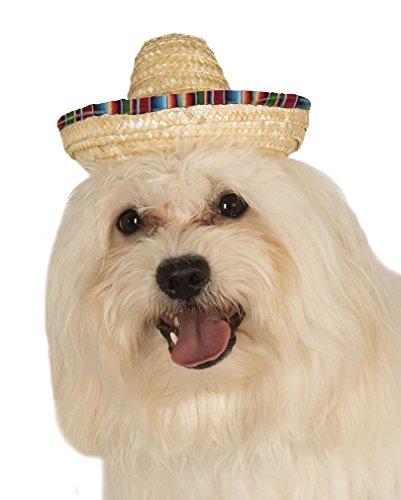 Horror-Shop Sombrero Hut für Hunde S/M (Durchmesser 8cm)