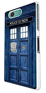 Sony Xperia Z3 Compact / Mini Doctor Who Tardis Police Call Box Design Look Design Trend Cover Coque arriere Coque Case-Plastique et métal