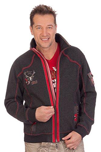 Trachten Sweaterjacke - BODENSEE - rot, Größe XS