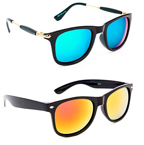 EASY4BUY Mens' women Combo of two Unisex Rectangle Sunglasses UV Protection Goggles B4