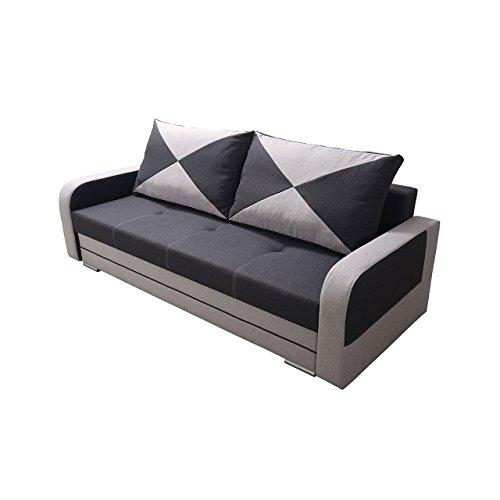 Mirjan24  Schlafsofa mit Bettkasten und Schlaffunktion Petro ! Couch Sofa, Bettsofa, Funktionsofa, Modern Still Polstersofa, Wohnzimmer (Twist 18 + Twist 23)