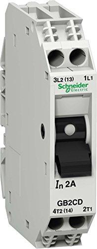 Schneider Electric GB2CD08 Tesys Gb2, Disyuntor Magnetotérmico, 1P + N, 3 A, Id = 40 A