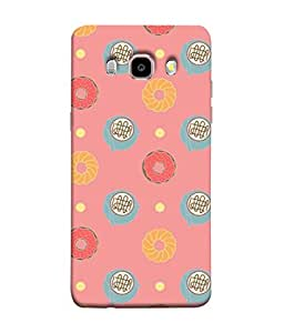 PrintVisa Designer Back Case Cover for Samsung Galaxy J7 (6) 2016 :: Samsung Galaxy J7 2016 Duos :: Samsung Galaxy J7 2016 J710F J710Fn J710M J710H (Animated Pattern Noodles Food Donut)
