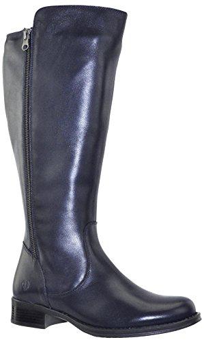 JJ Footwear Damen Stiefel Leder Tunis XL Ozean Nappa Capri Kwaau