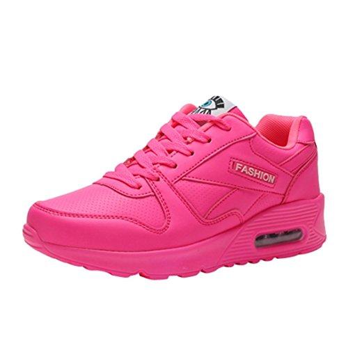 Baskets à Semelle Épaisse Chaussures Compensées à Lacets en Cuir Overdose Femme Automne Hiver Sportwear Casual Sneakers Plates