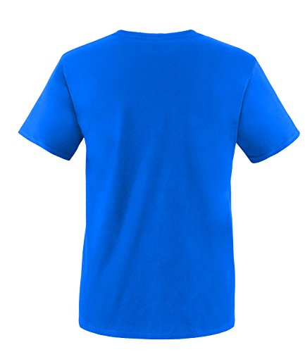 EZYshirt® Gym Time Herren Rundhals T-Shirt Royal/Neongrün
