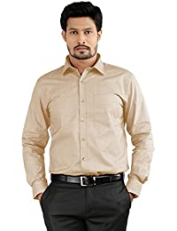 Shirt Rajvila Solid Color Cotton Blend Formal Mens Wear Shirt
